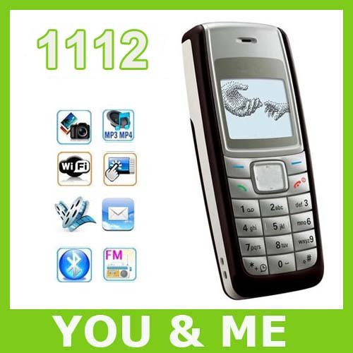 Free shipping original 1112 mobile phone Dual-Band cell phone(China (Mainland))