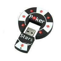 fans 4GB 8GB 16GB 32GB rubber Poker Stars pokerstars USB flash memory drive Pen U disk