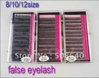 8/10/12mm size  0.2mm MINK Artificial Flase Eyelash Extension Accessories For Make-up Beauty  Products Freeshipping 233