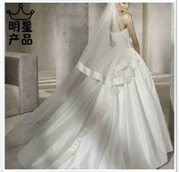 Two Layers Chapel Wedding Bridal Veil Free Shipping Wholesale