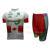 2012 GreenEDGE canada champion Short Sleeve Cycling Jersey And Shorts,cycling wear S~XXXL accept custom