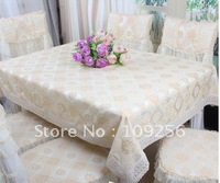 Free ship!Wholesalelace tablecloth lace table cover home textile wholesaler and retailer knitting edge table cloth
