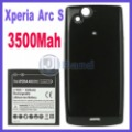 Free Shipping Xperia Arc S LT18i 3500mAh extended battery for Sony Ericsson XPERIA Arc X12 LT15i + back cover