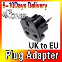 Newest Brand UK to EU AC Power Plug Travel Adapter Socket Converter 10A/16A 240V 2pec/lot Free shipping