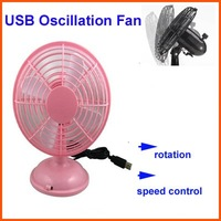 Wholesale-100% Brand New USB Oscillation Fan Oscillating Fan Variable Speed USB/Battery Optional