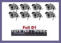CCTV Security  network Full D1 8CH DVR 420TVL IR camera CCTV system kit