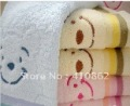 Free shipping,100% cotton, smiling face, pure cotton towels, face towel