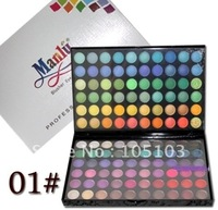 Free Shipping!! Manly 120 full multi-Color Eyeshadow makeup Palette 01# with matte & shimmer color included