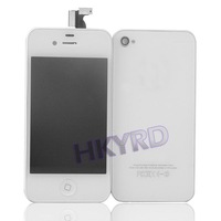 1PCS Hot White Touch Digitizer LCD Display Assembly+Back Housing For iPhone 4G  BA020