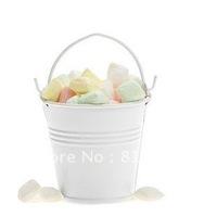 Europe wedding faovr white tin bucket for candy