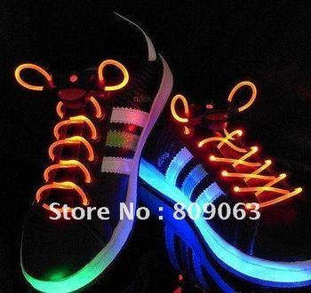 Free Shipping Pink LED Flashing Shoelace Bootlace Latchet Lace Shoestring