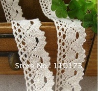 cotton lace trim,2.3CM 100% cotton lace fabric,lace trimming,ribbon lace