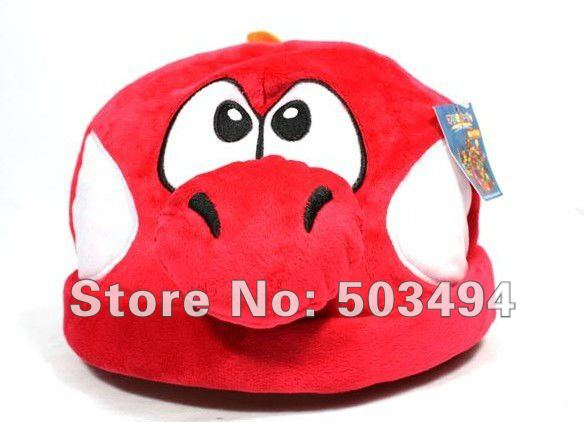Wholesale Free Shipping  Super Mario Bros Costume Anime Cosplay Hat Cap Super mario sun hat Super mario hat Red