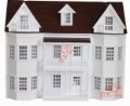 [1:12 Doll House] 3 Floor Big Doll House, Quality Wooden House, Dream White Doll House(China (Mainland))