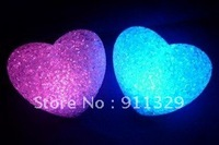 Best selling!  Romantic crystal Heart lights LED 7 Color Change,LED night light.  Free shipping! Retail&Wholesale