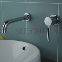 Free shipping Wall mounted Single handle Bathroom Mixer  Faucet In wall Basin sink Tap 03315 Factory supplier