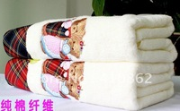 Free shipping,Soaring and teddy bear, pure cotton towel, thickening increase, bath towel