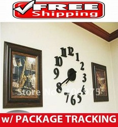 2012 LATEST NOVELTY DIY WALL CLOCK INTERIOR DECOR UNIQUE GIFT IDEA(China (Mainland))