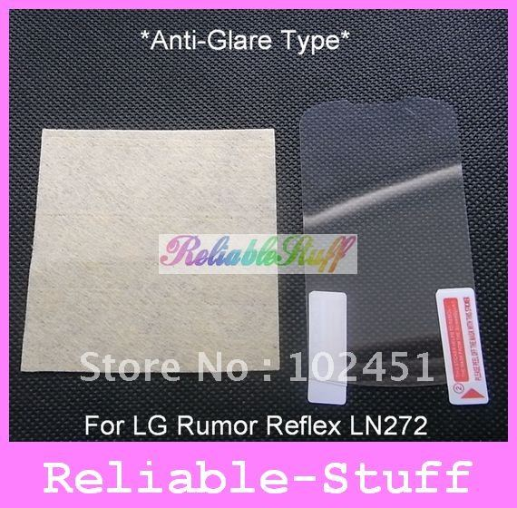 For Rumor Reflex Screen Guard,Anti-glare Matte screen Protector film for LG Rumor Reflex LN272 100pcs W/ retail package MSP448A(China (Mainland))