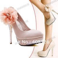 2014 NEW Luxury Sexy Romantic Flower Women's Platform Pumps Stilettos Wedding High Heels Shoes 3789