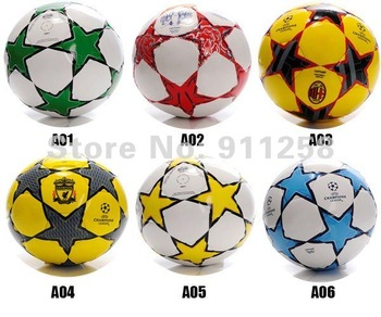 1 pc Retail, super quailty  soccer ball, AD leather  football, factory direct sale, official size and weight with free shipping