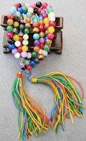 108 Colorful Mixed Beads Buddhist Prayer Mala Necklace