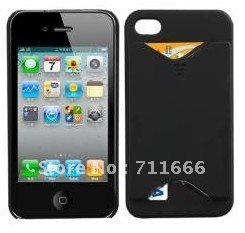 Credit ID Card Holder Case Skin Cover for iPhone 4 4G(China (Mainland))