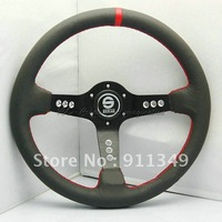 SPARCO 14 inches Leather Steering Wheel, Drifting steering wheel for Modified Car-13071