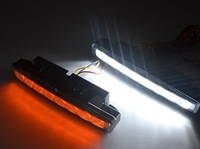 Free shipping turn signal light led drl lights 8 LED Daytime Running Lights amber turn signal lights,turn to yellow when veer