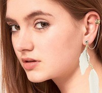 Серьги-клипсы Fashion Earring Jewelry Topshop Leaf Shape Ear Cuff Ear Clip Earring, E1-105