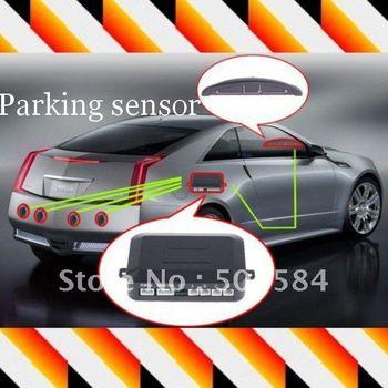 4 Parking Sensors LED Car Backup Reverse Radar Kit