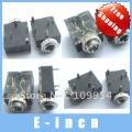 10X 3.5mm Headphones Stereo Jack Socket Switch With nut PCB Panel Mount Chassis ,free shipping
