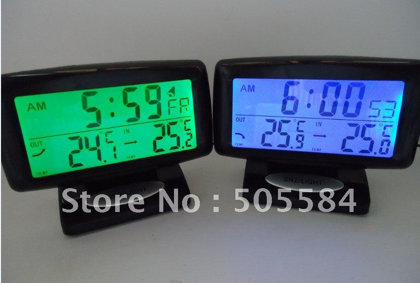 LCD Display Digital Alarm Car Clock Thermometer Temperature Display(China (Mainland))