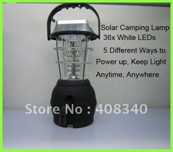 Wholesale!Solar Camping Lamp+36xLEDs+Hand Crank LED Light+Outdoor Lanttern+5 Different Power Ways 10pcs/lot EMS Free Shipping(China (Mainland))