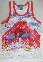 Spider Man boys underwaist vest sleeveless garment FREE SHIPPING 12 pieces in 1 lot 100% cotton high quality hot sale
