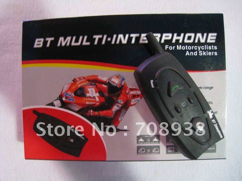 Helmet Intercom, BT Interphone 500M / Bluetooth motorcycle helmet intercom BT 500A free shipping(China (Mainland))