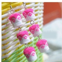 Wholesale 75pcs/lot  Chinese folk style handmade charm weave fashion  earrings,pink &white color Good for lover gift No.801