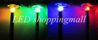 DHL Freeshipping, color changeable solar powered lawn light for garden decoration,outdoor Stainless steel solar lamp 20pcs/lot