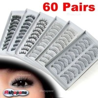 Wholesale - 10 Set/lot + (10 Pairs in a SET) Natural OR Thick Fake False Eyelashes Eye Lash (24 STYLES CHOICE) Free Shipping