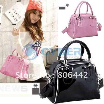 2012 Women's Elegant Fashion Classic Tote Patent Leather Shoulder Bag Handbag