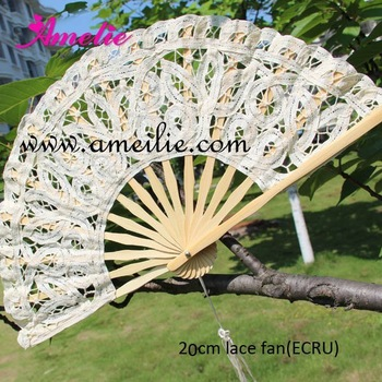 embroidery lace hand fan
