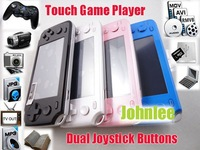 New 4.3inch 8GB Touch screen Handheld Game Player MP4 MP5 Player game console With Camera+TV out+FM+HDMI+More than 1000 games