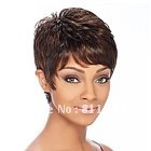 Free Shipping  New Stylish Brown Short Curly Lady's Fashion Sexy  Party Cosplay  Synthetic Hair  Wig/Wigs