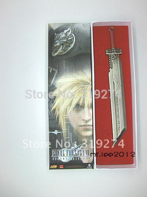Fs 2012 final fantasy 7 vii ff cloud sword weapon nib toy 20cm type b