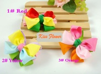 New Girls/Kids/Infant/Baby Colorful Ribbon Hairclips/Hairpins/Hair Accessories/ Kroean Style/Fashion Gift/Wholesale FreeShipping