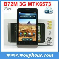 Freeshipping!!!3G Android Phone B72M with 5.0 Mega Pixel Camera 4.0 Inch Capacitive Screen good battery 3000mah(China (Mainland))