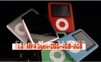 "High quality ,4GB,1.8"" screen mp4 3gen +voice recorder+FM radio+build in memory, +earphone +usb ,6 colors ,free shipping"