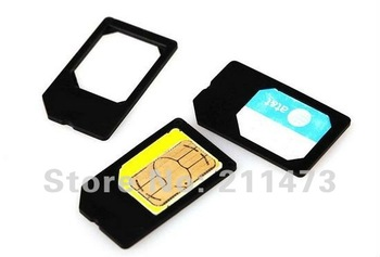 100pcs/lot.Newest Card!For iPhone 4G&4S Micro Sim Card Adaptor free shipping by EMS&DHL