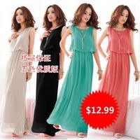 Женское платье 2012 Fashion dress Celebrity eveing maxi dress women vintage bohemian beach dress pink M L CW043
