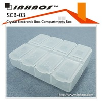 SCB-03: Crystal parts box, Plastic Electronic Box,Tools